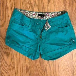YMI Blue green shorts